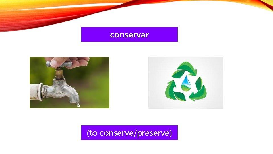 conservar (to conserve/preserve)