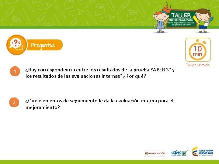 1 ¿Hay correspondencia entre los resultados de la prueba SABER 3° y los resultados