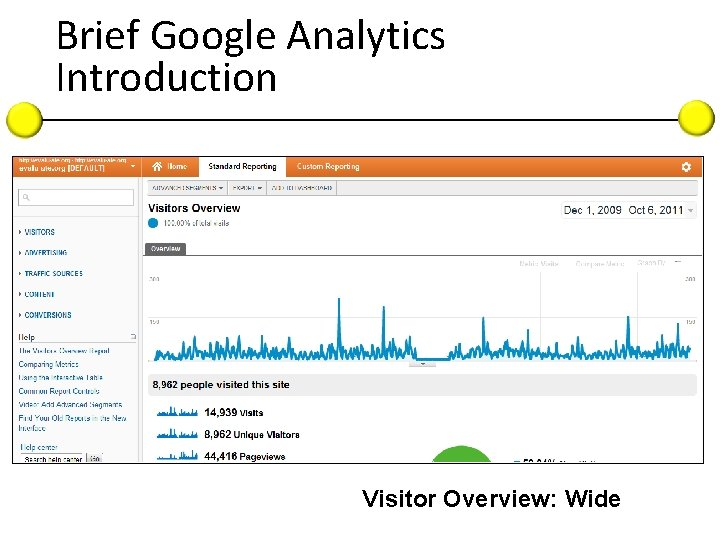 Brief Google Analytics Introduction Visitor Overview: Wide