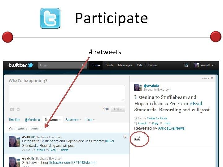 Participate # retweets