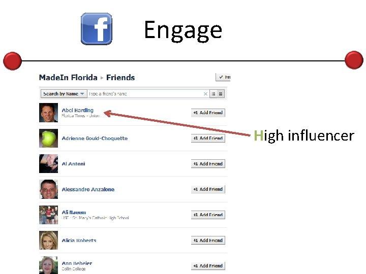 Engage High influencer