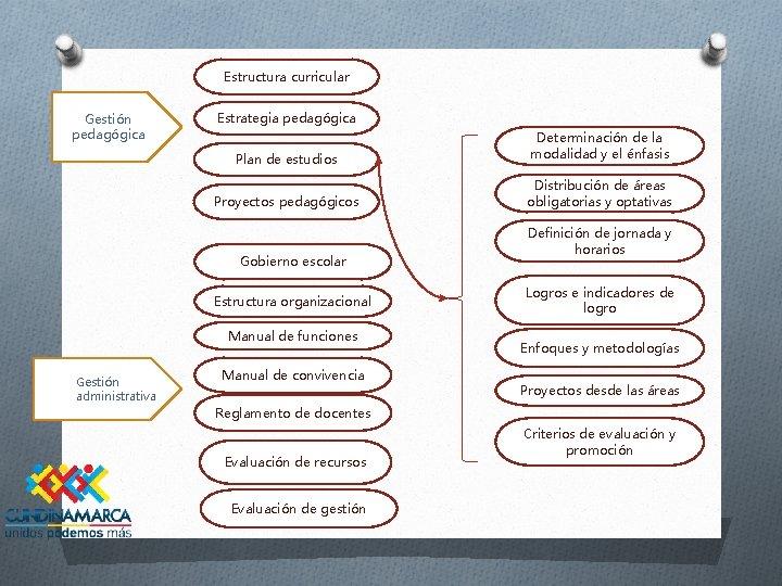 Estructura curricular Gestión pedagógica Estrategia pedagógica Plan de estudios Determinación de la modalidad y