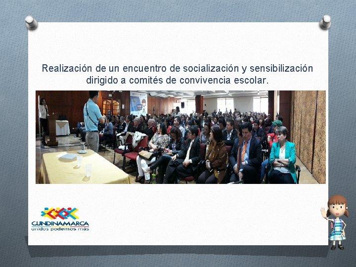 Realización de un encuentro de socialización y sensibilización dirigido a comités de convivencia escolar.