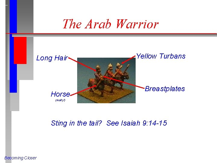 The Arab Warrior Long Hair Horse Yellow Turbans Breastplates (really!) Sting in the tail?
