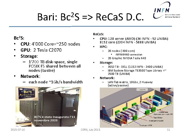 Bari: Bc 2 S => Re. Ca. S D. C. Re. Ca. S: •