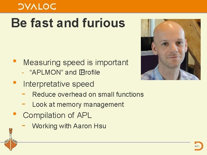 """Be fast and furious • • • Measuring speed is important """"APLMON"""" and �"""