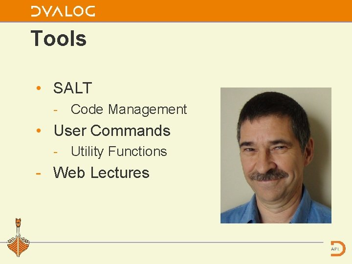 Tools • SALT Code Management • User Commands Utility Functions Web Lectures