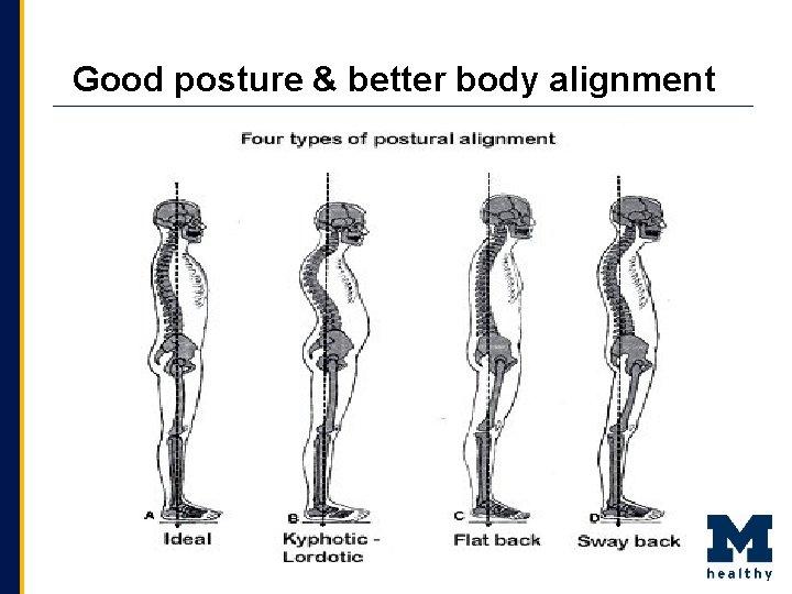 Good posture & better body alignment