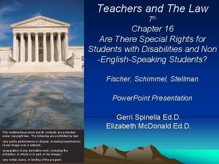 Teachers and The Law 7 th Chapter 16 Are There Special Rights for Students