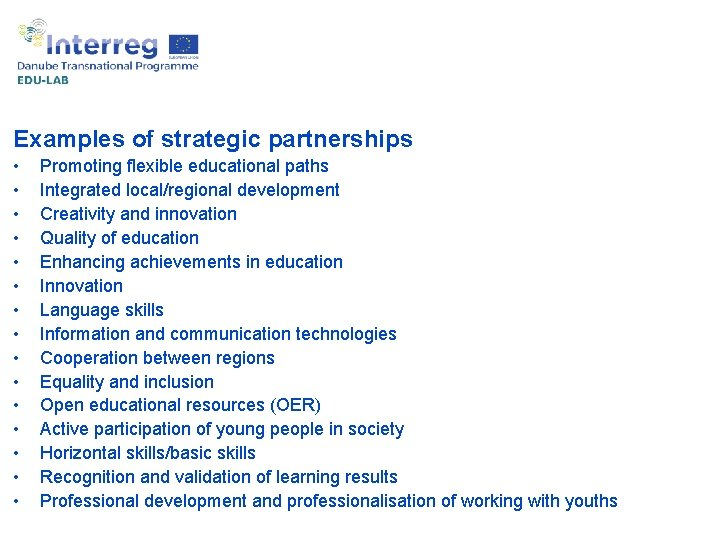 Example of best practices: Bulgaria Examples of strategic partnerships • • • • Promoting