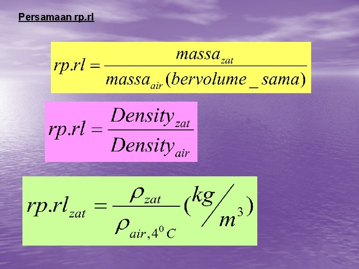 Persamaan rp. rl