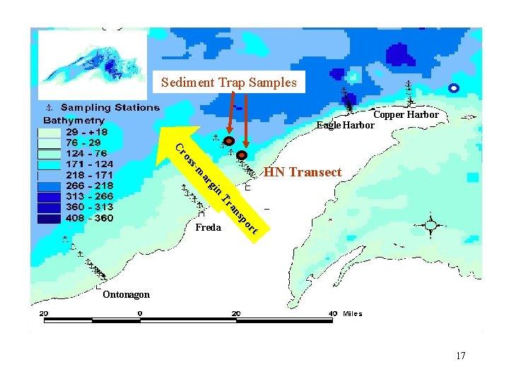 Sediment Trap Samples Copper Harbor Eagle Harbor s os Cr n gi ar -m
