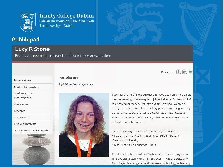 Pebblepad Trinity College Dublin, The University of Dublin