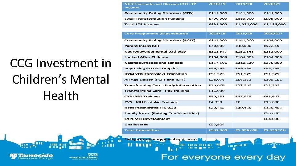 CCG Investment in Children's Mental Health 14