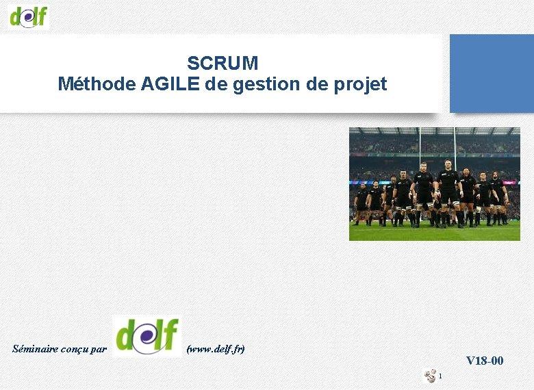 SCRUM Méthode AGILE de gestion de projet Séminaire conçu par (www. delf. fr) V