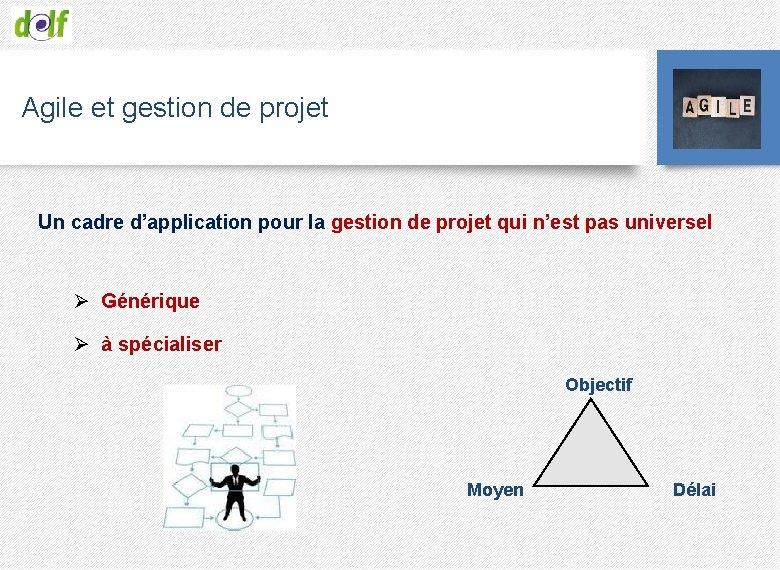 Agile et gestion de projet Un cadre d'application pour la gestion de projet qui