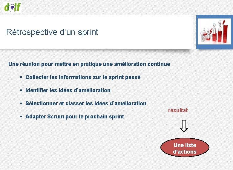 Rétrospective d'un sprint Une réunion pour mettre en pratique une amélioration continue § Collecter