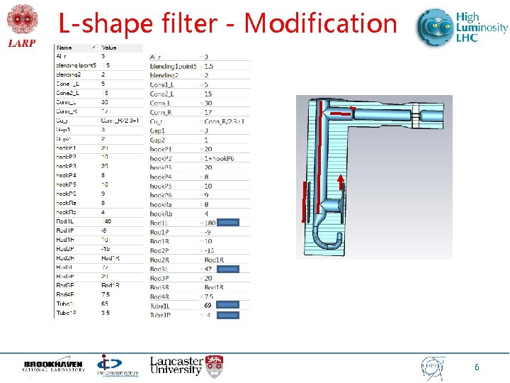 L-shape filter - Modification 69 6