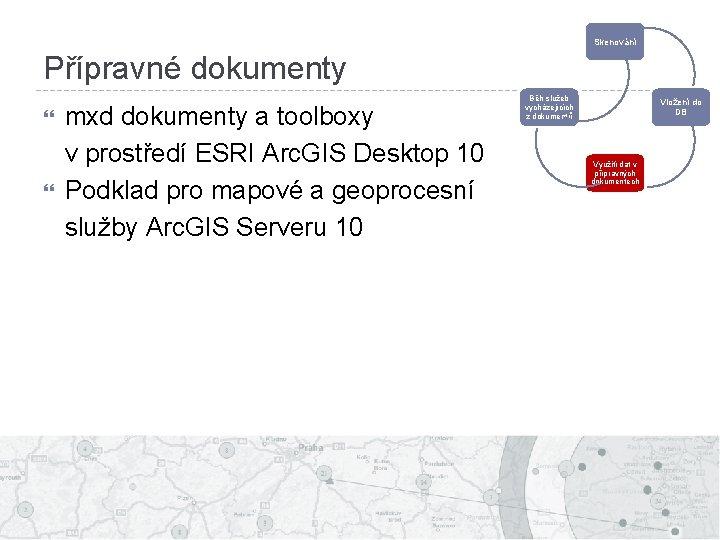 Skenování Přípravné dokumenty mxd dokumenty a toolboxy v prostředí ESRI Arc. GIS Desktop 10