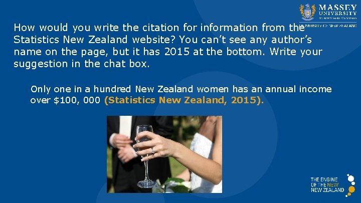 How would you write the citation for information from the Statistics New Zealand website?