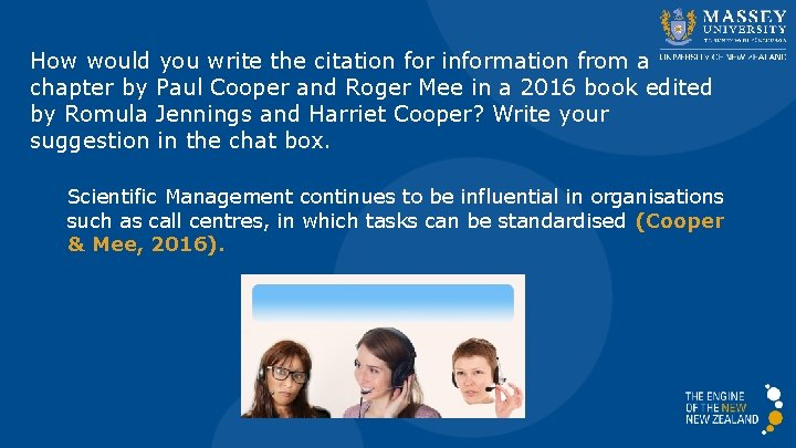 How would you write the citation for information from a chapter by Paul Cooper