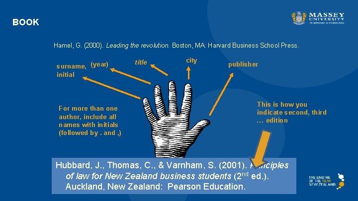 BOOK Hamel, G. (2000). Leading the revolution. Boston, MA: Harvard Business School Press. surname,