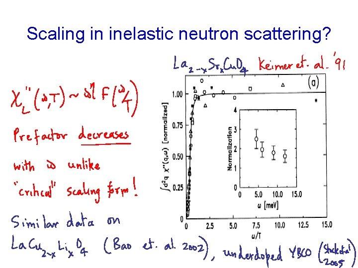 Scaling in inelastic neutron scattering?