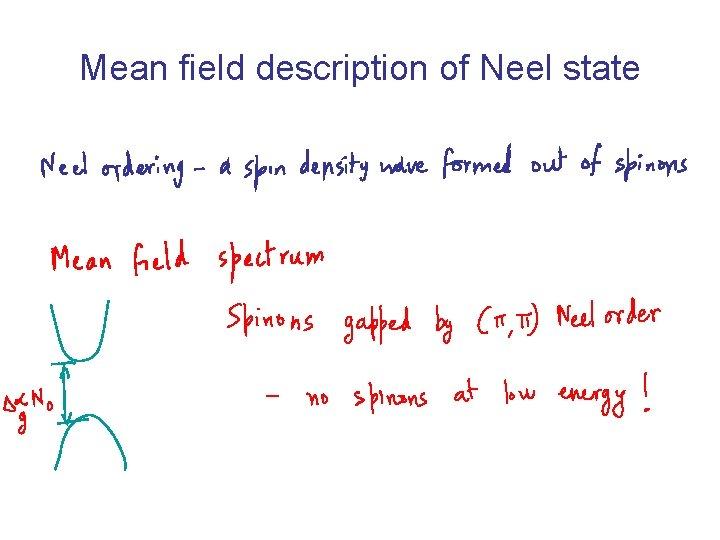 Mean field description of Neel state