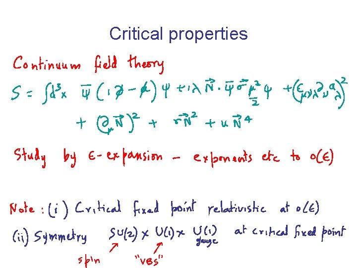 Critical properties