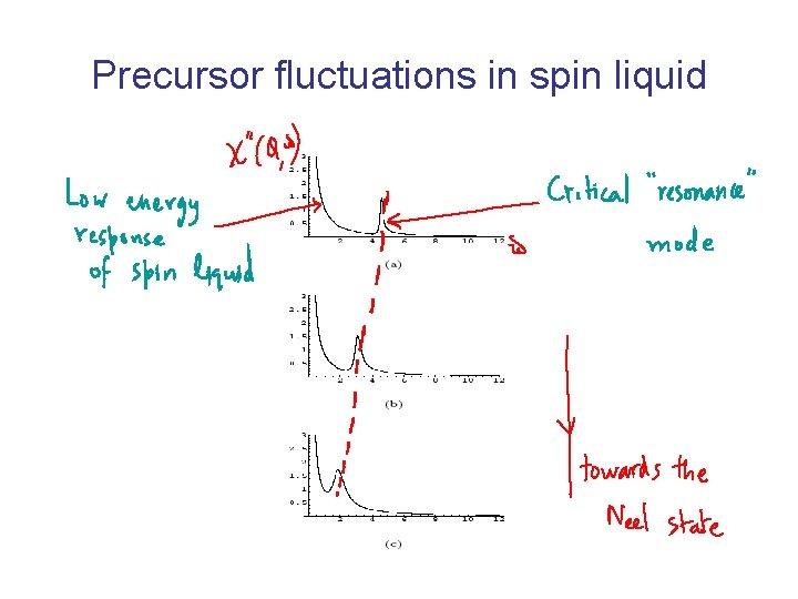 Precursor fluctuations in spin liquid