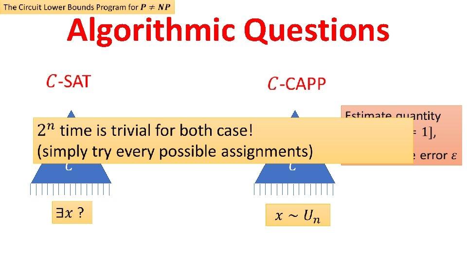 Algorithmic Questions
