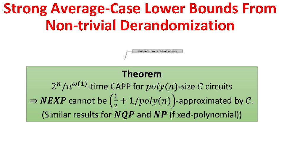 Strong Average-Case Lower Bounds From Non-trivial Derandomization