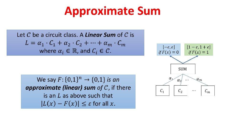Approximate Sum