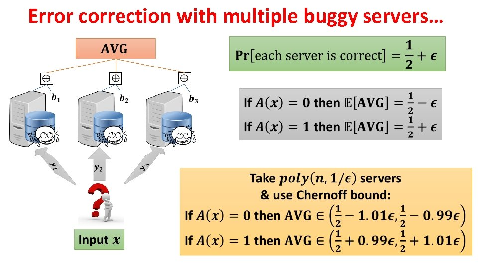 Error correction with multiple buggy servers…
