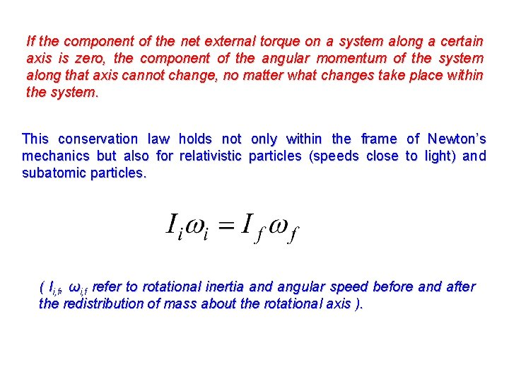 If the component of the net external torque on a system along a certain