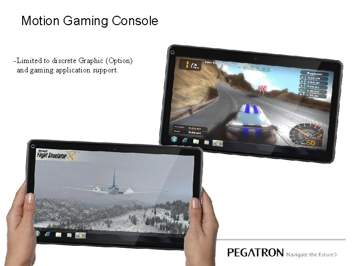 Motion Gaming Console - Limited to discrete Graphic (Option) and gaming application support.