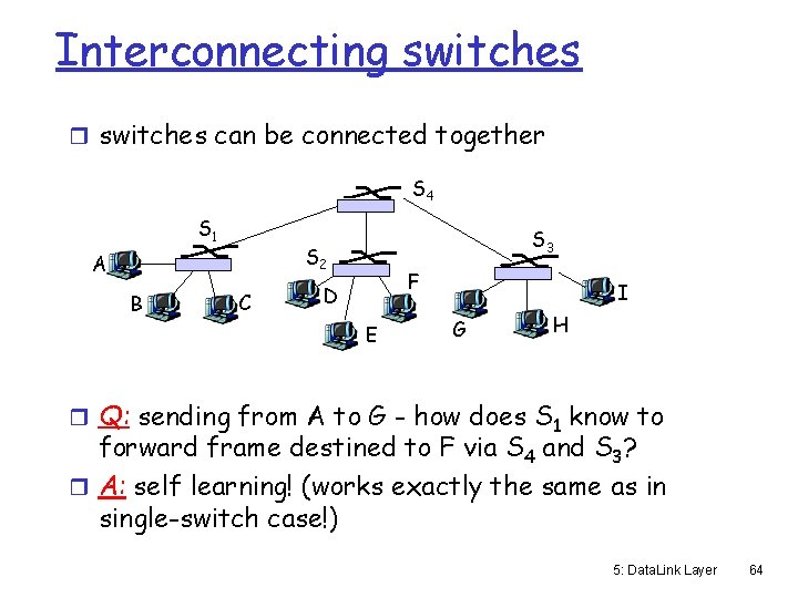 Interconnecting switches r switches can be connected together S 4 S 1 S 2