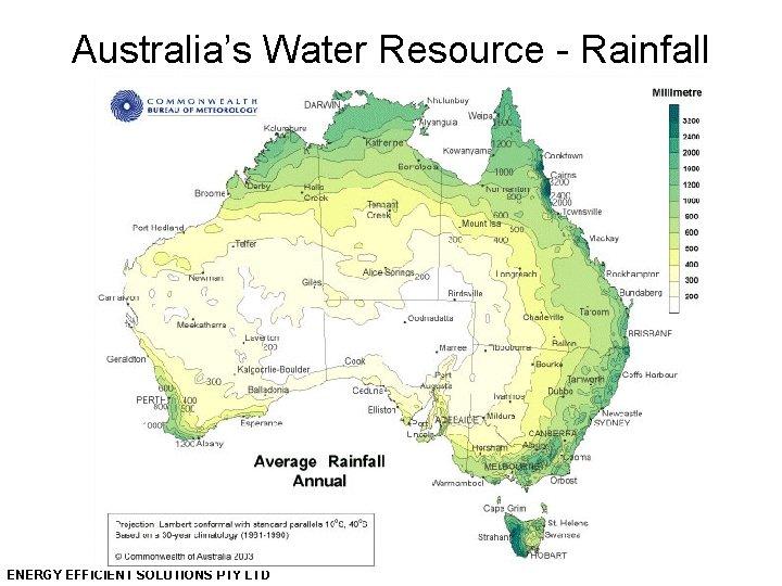 Australia's Water Resource - Rainfall ENERGY EFFICIENT SOLUTIONS PTY LTD