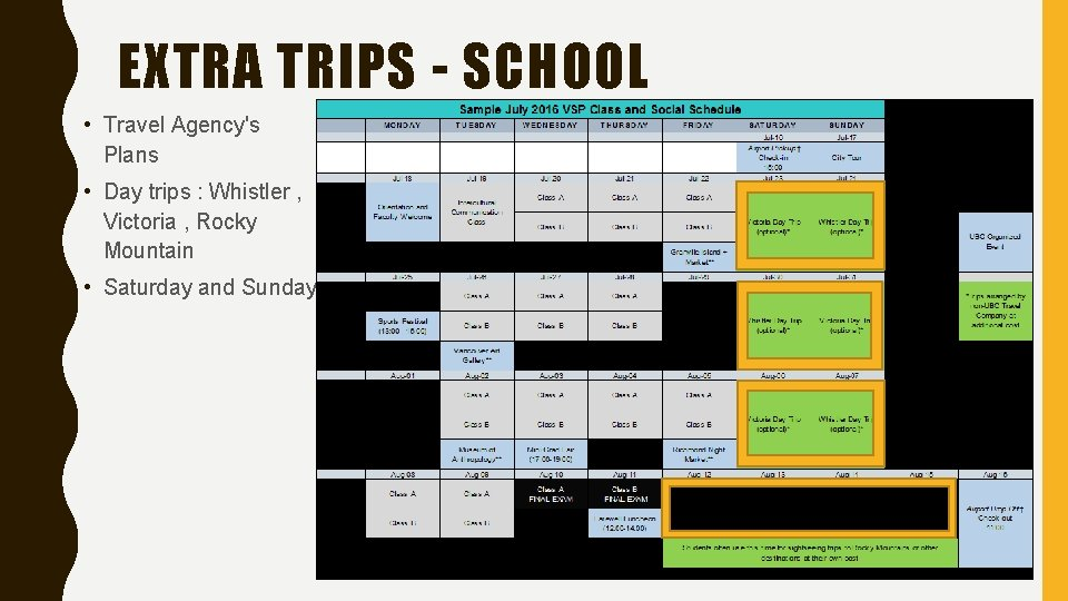 EXTRA TRIPS - SCHOOL • Travel Agency's Plans • Day trips : Whistler ,