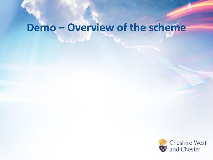 Demo – Overview of the scheme
