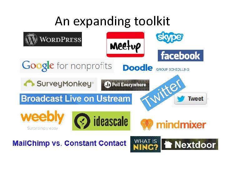 An expanding toolkit