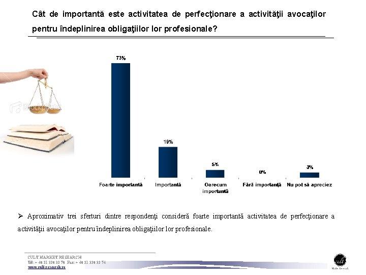 Cât de importantă este activitatea de perfecţionare a activităţii avocaţilor pentru îndeplinirea obligaţiilor profesionale?
