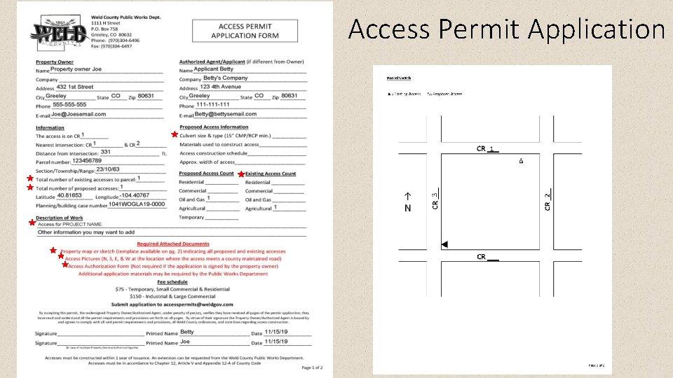 Access Permit Application