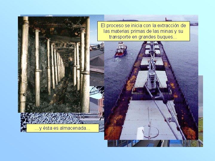 El…estos procesobuques se inicia con la extracción de transportan el las materias primas de