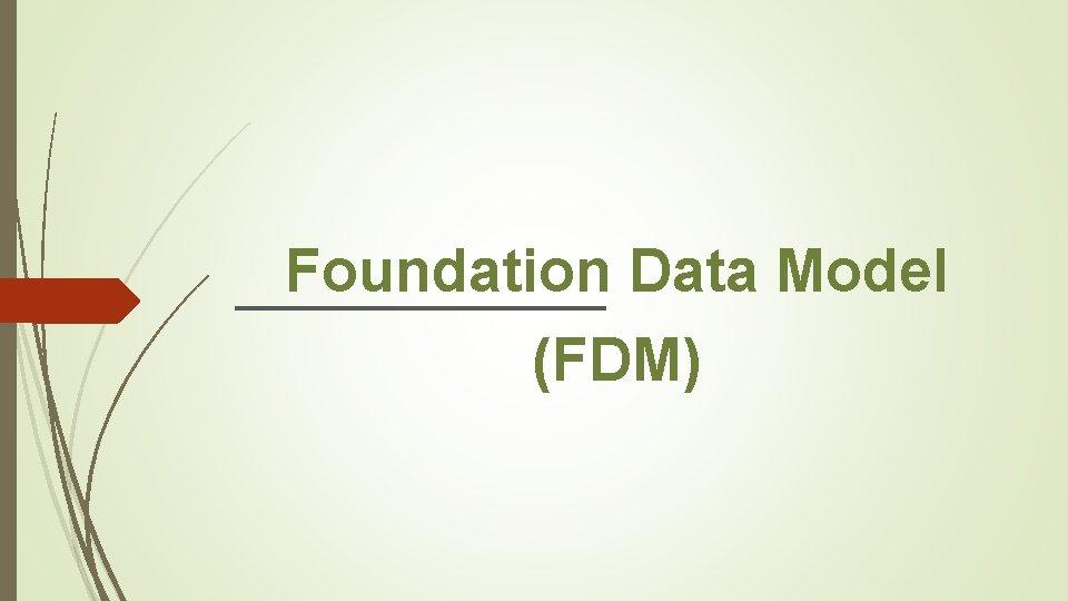 Foundation Data Model (FDM)