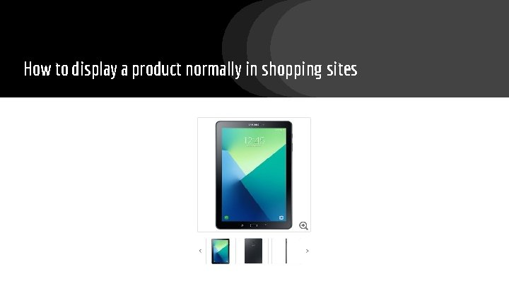 How to display a product normally in shopping sites