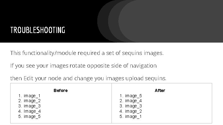 TROUBLESHOOTING This functionality/module required a set of sequins images. If you see your images