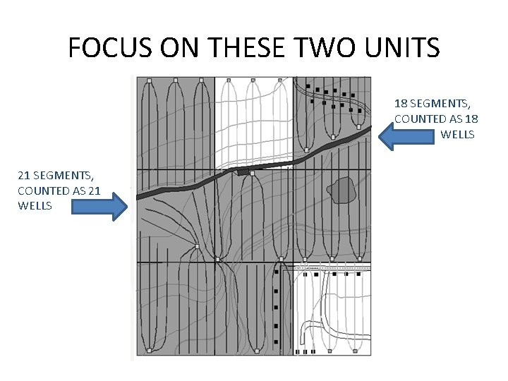 FOCUS ON THESE TWO UNITS 18 SEGMENTS, COUNTED AS 18 WELLS 21 SEGMENTS, COUNTED