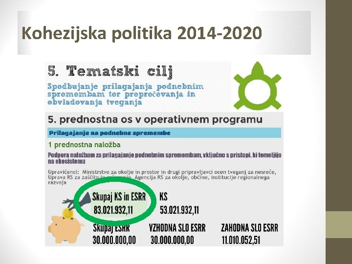Kohezijska politika 2014 -2020
