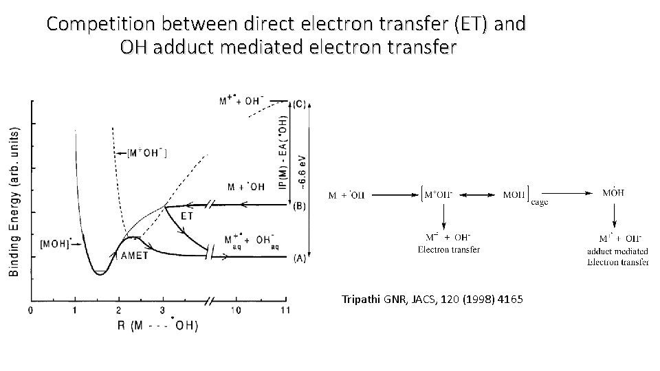 Competition between direct electron transfer (ET) and OH adduct mediated electron transfer Tripathi GNR,